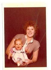 The only picture I have of my mother and I